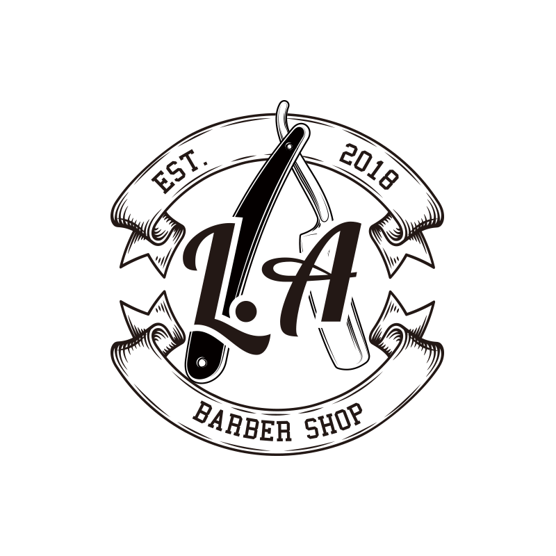 L.A BARBER SHOP LOGO DESIGN