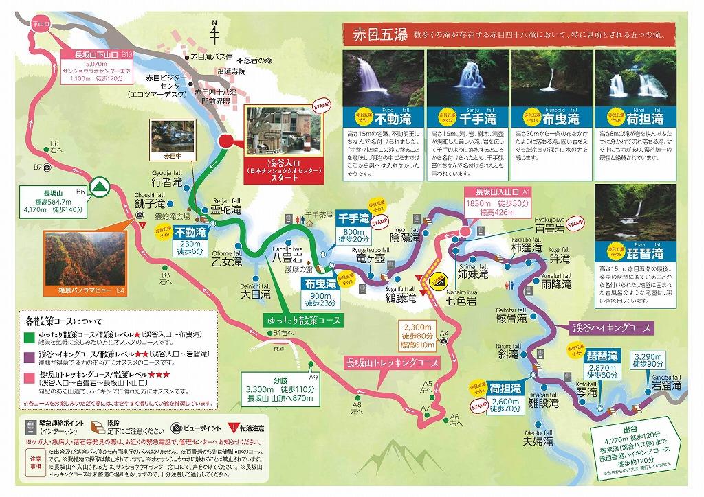 赤目四十八滝散策マップ